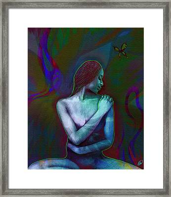 Butterfly Hearts II Framed Print by AC Williams