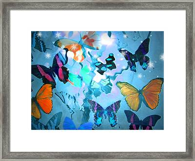 Framed Print featuring the photograph Butterfly Heaven by Rosalie Scanlon