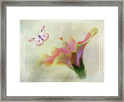 Butterfly Hibiscus Art II Framed Print