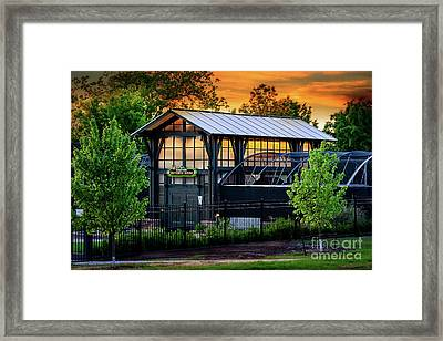 Butterfly House At Sunset Framed Print