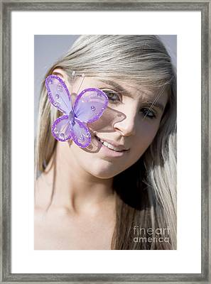 Butterfly Kisses Framed Print by Jorgo Photography - Wall Art Gallery