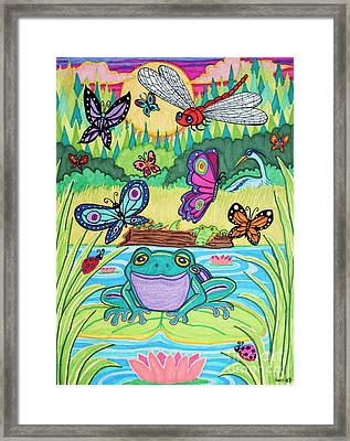 Butterfly Lake Framed Print by Nick Gustafson