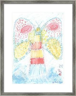 Butterfly Lighthouse Framed Print