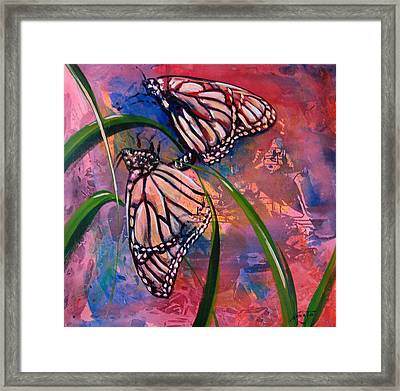 Butterfly Love Framed Print by AnnaJo Vahle