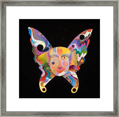 Butterfly Mask Framed Print by Bob Coonts