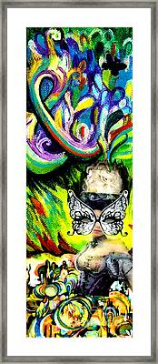 Butterfly Masquerade Framed Print by Genevieve Esson