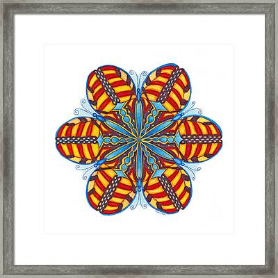 Butterfly Framed Print by Maureen Frank The Mandala Lady