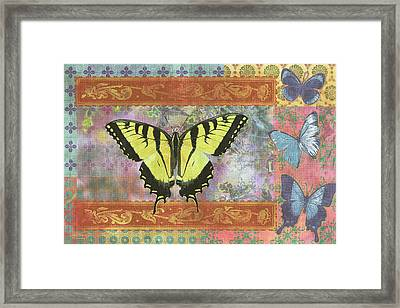 Butterfly Mosaic Framed Print by JQ Licensing
