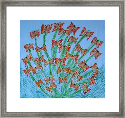 Butterfly Motion Framed Print
