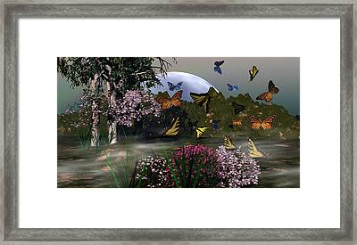 Butterfly Mountain Framed Print by Eva Thomas