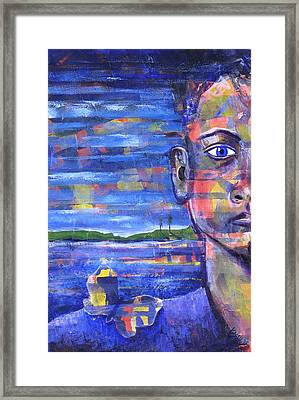 Butterfly On My Shoulder Framed Print by Rollin Kocsis