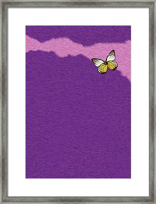 Butterfly On Purple Fur Framed Print by Pascal VERSAVEL
