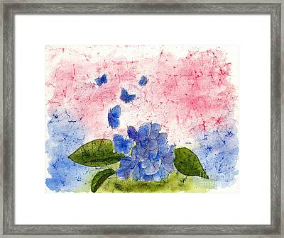 Butterflies Or Hydrangea Flower, You Decide Framed Print