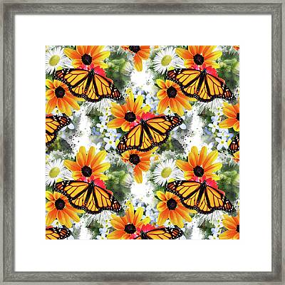 Framed Print featuring the mixed media Butterfly Pattern by Christina Rollo