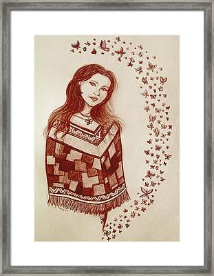Butterfly Princess Framed Print by Nick Gustafson