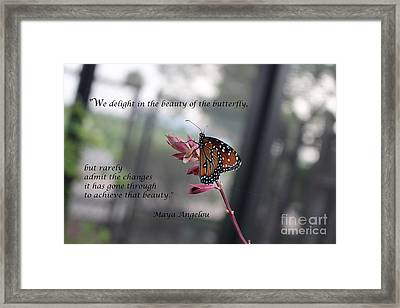Butterfly Quote Art Print Framed Print
