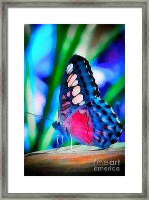 Butterfly Realistic Painting Framed Print
