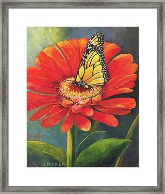 Butterfly Rest Framed Print