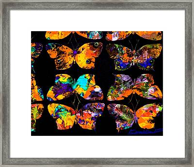 Butterfly Rows  Series 2 Framed Print by Teodoro De La Santa