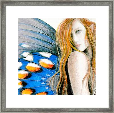 Butterfly Rush Take1 Framed Print by Patricia Ann Dees