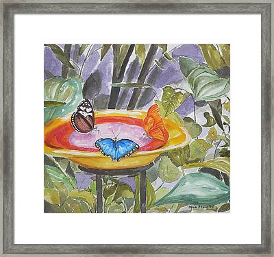 Framed Print featuring the painting Butterfly Sanctuary At Niagara Falls by Geeta Biswas