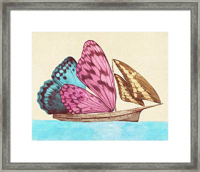 Butterfly Ship Framed Print by Eric Fan