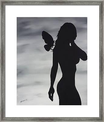Butterfly Silhouette Framed Print