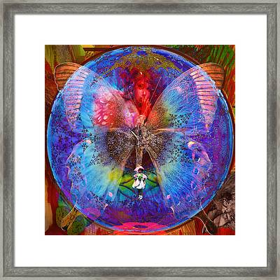 Butterfly Sisterly City Love Framed Print