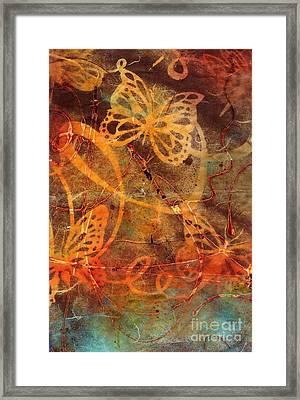 Butterfly Sun Dance Framed Print