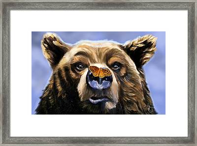 Butterfly Surprise Framed Print