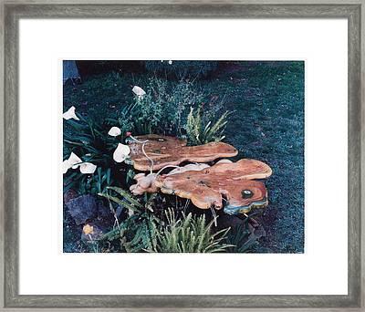 Butterfly Table Framed Print by Lionel Larkin
