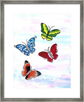 Butterfly Tag Framed Print