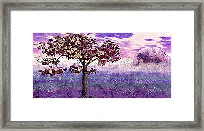 Framed Print featuring the digital art Butterfly Tree by Margaret Hormann Bfa