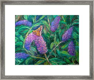 Framed Print featuring the painting Butterfly View by Kendall Kessler