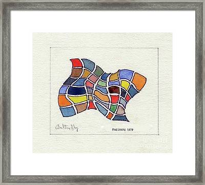 Butterfly Watercolor Framed Print by Fred Jinkins