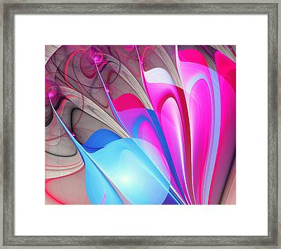 Butterfly Wing Pattern Framed Print by Anastasiya Malakhova