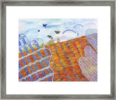 Butterfly's Wings Framed Print by Shoshanah Dubiner