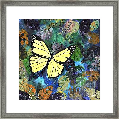 Butterfly Yellow Framed Print