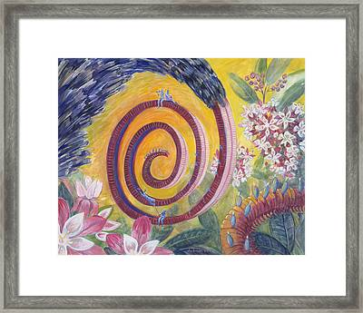 Butterfly's 'tongue' Framed Print by Shoshanah Dubiner