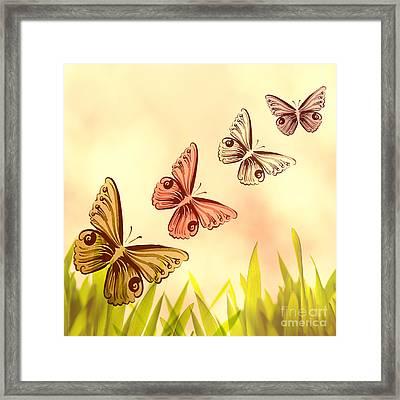 Butterflies Fantasy Framed Print