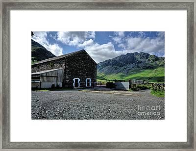 Buttermere Farm Framed Print by Nichola Denny