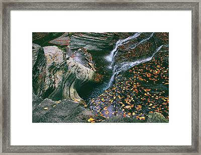 Buttermilk Creek Abstract Framed Print by Jessica Jenney