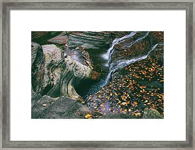 Buttermilk Creek Abstract Framed Print