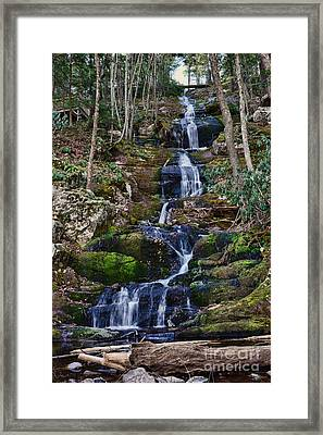 Buttermilk Falls All 200 Feet Framed Print by Paul Ward