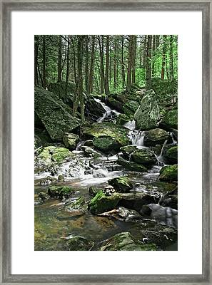 Buttermilk Falls Framed Print by Allan Van Gasbeck