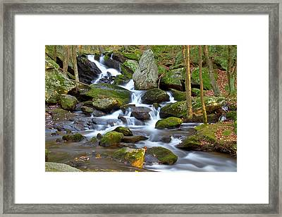 Buttermilk Falls Cascade Framed Print by David Freuthal