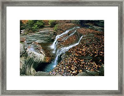 Buttermilk Falls Creek Framed Print