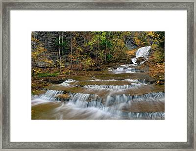 Buttermilk Falls Framed Print by Dean Hueber
