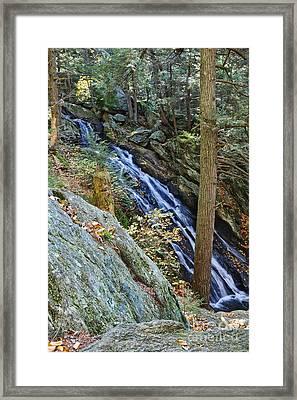Buttermilk Falls Framed Print by Edward Sobuta