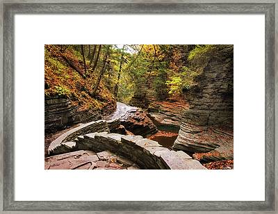 Buttermilk Falls Gorge Framed Print by Jessica Jenney